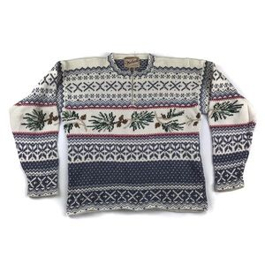 Woolrich Pinecone Winter Ugly Christmas Sweater
